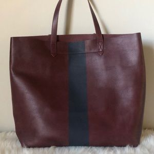 Madewell large transport tote bag paint stripe